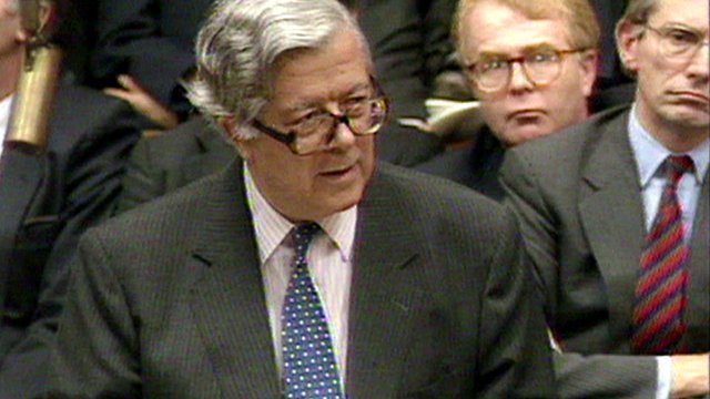 Geoffrey Howe in 1990