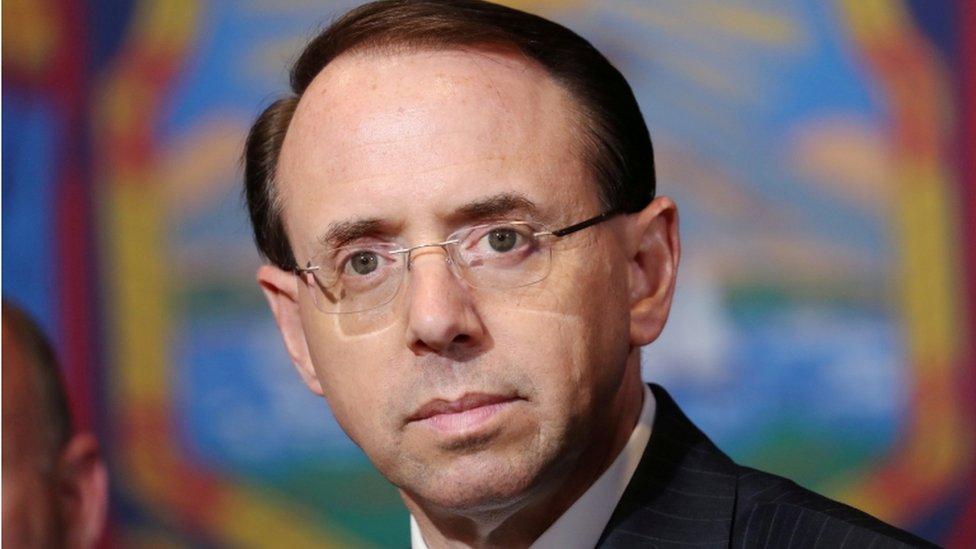 Rod Rosenstein: Trump-Russia probe overseer's job in doubt