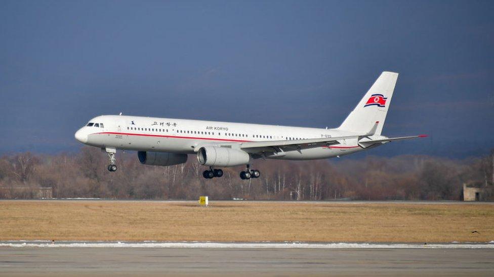 Avión de Air Koryo, aerolínea nacional de Corea del Norte.