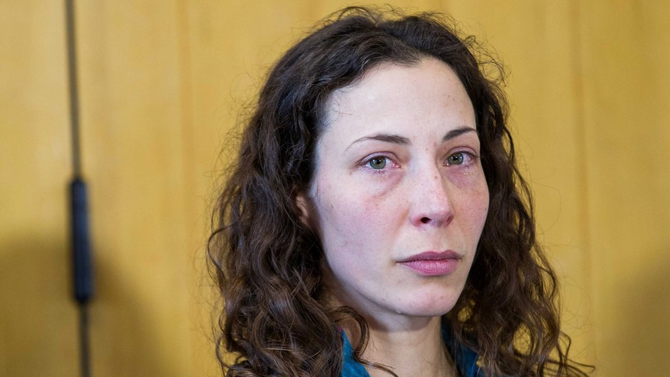 Czech tourist Pavlina Pizova attends a press conference at a police station in Queenstown, New Zealand, Friday, Aug. 26, 2016. Pizova, whose partner fell to his death, survived a harrowing month in the frozen New Zealand wilderness before being rescued, police said.
