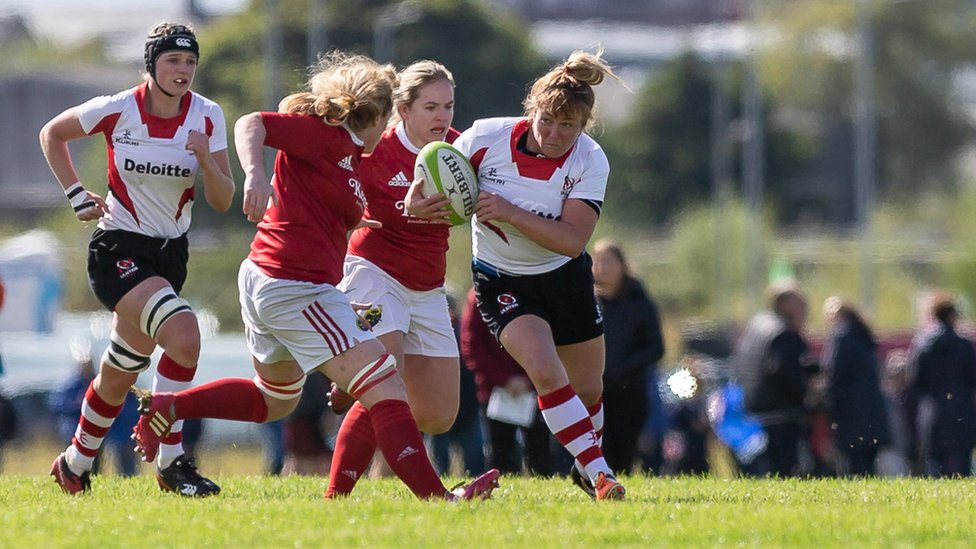 Ulster Rugby: Woman makes debut aged 47