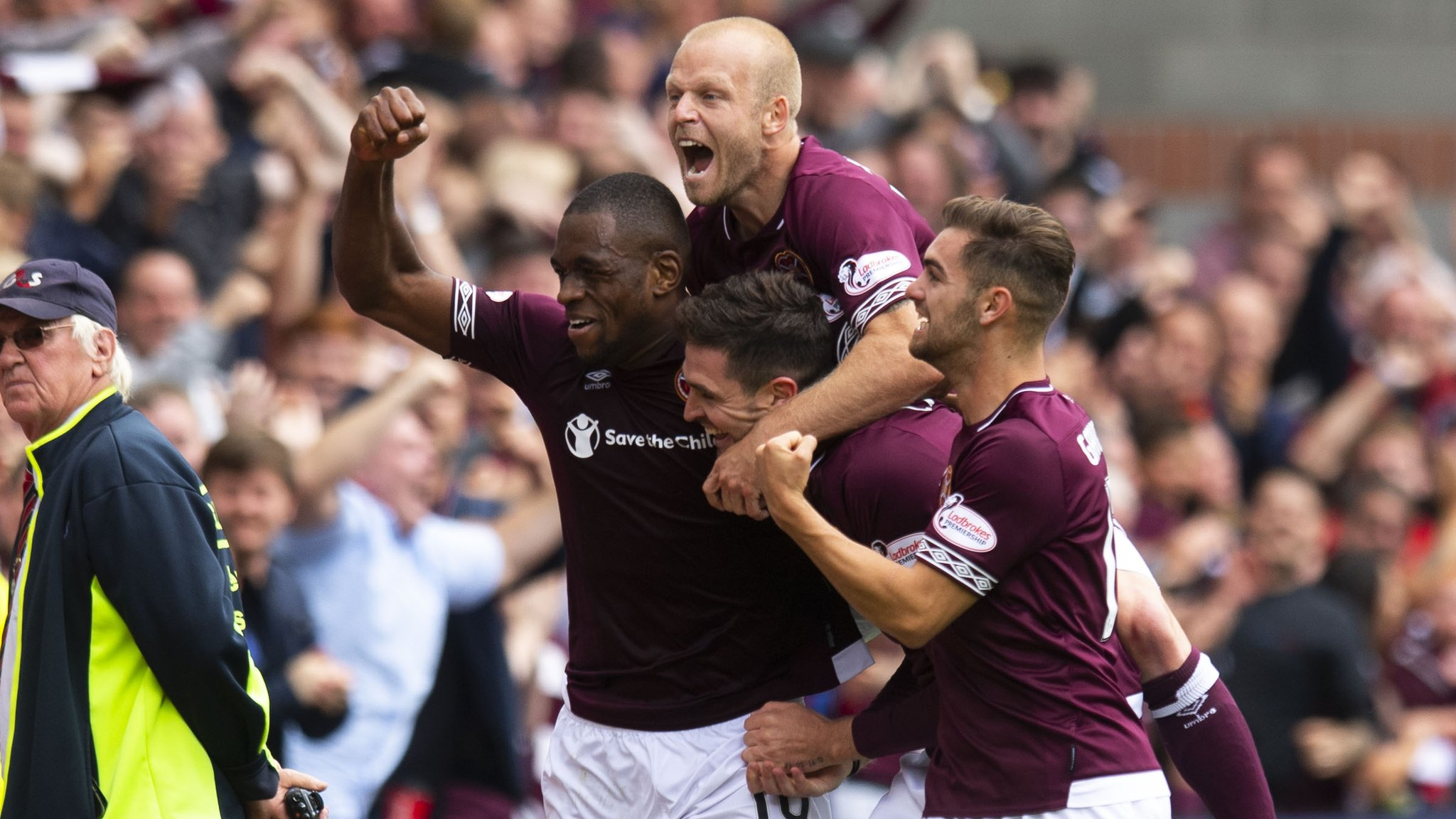 Hearts 1-0 Celtic: Kyle Lafferty's stunning strike seals win over champions