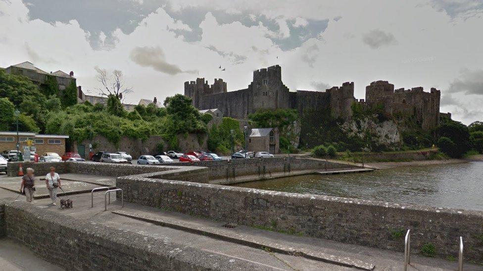 Pembroke Castle and Mill Pond