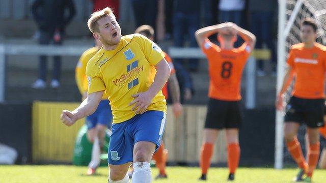 David Cushley of Ballymena United