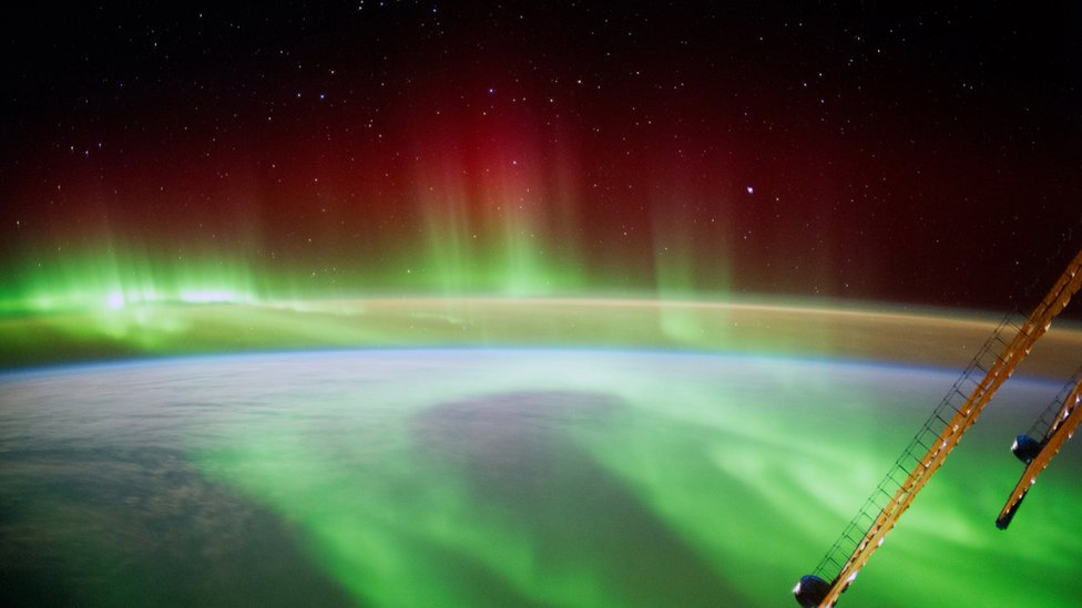 In this handout photo provided by the European Space Agency (ESA) on September 9, 2014, German ESA astronaut Alexander Gerst took this image of an aurora as he circled Earth whilst aboard the International Space Station (ISS).
