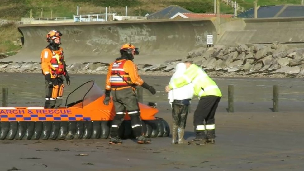 Boy, seven, rescued from mud at Brean beach