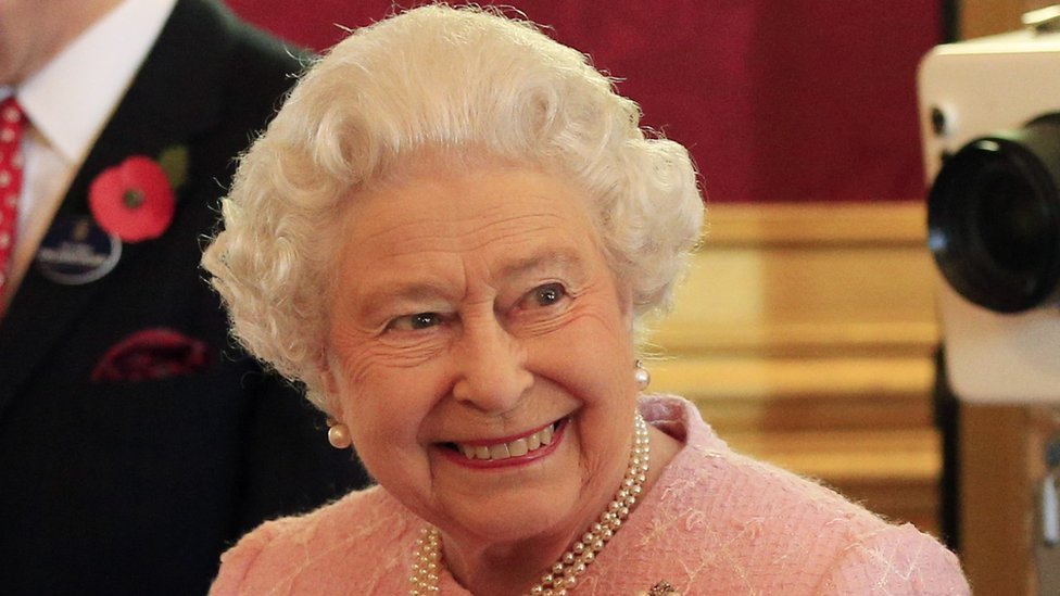 The Queen at a reception for the community of Commonwealth Organisations at St James's Palace on 27 October 2015