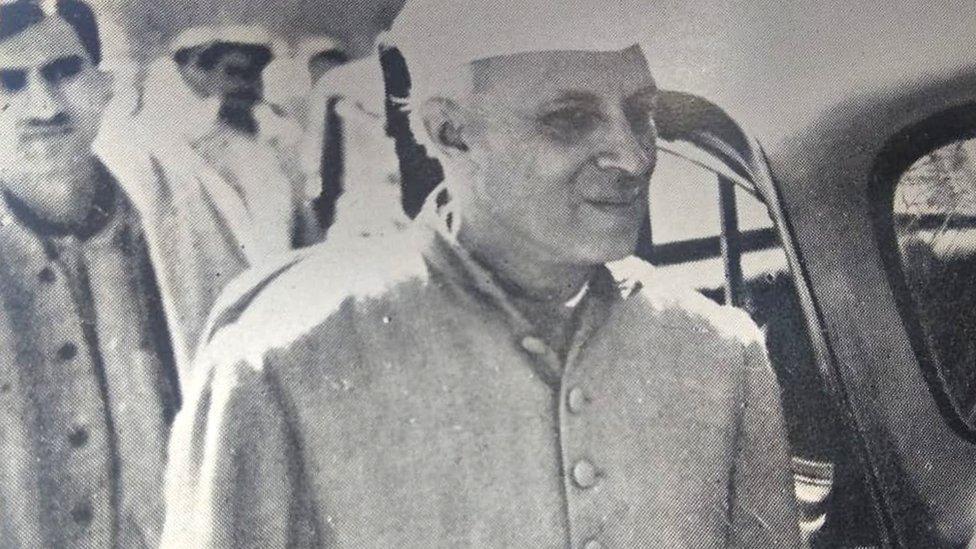 नेहरू के साथ मोहम्मद यूनुस