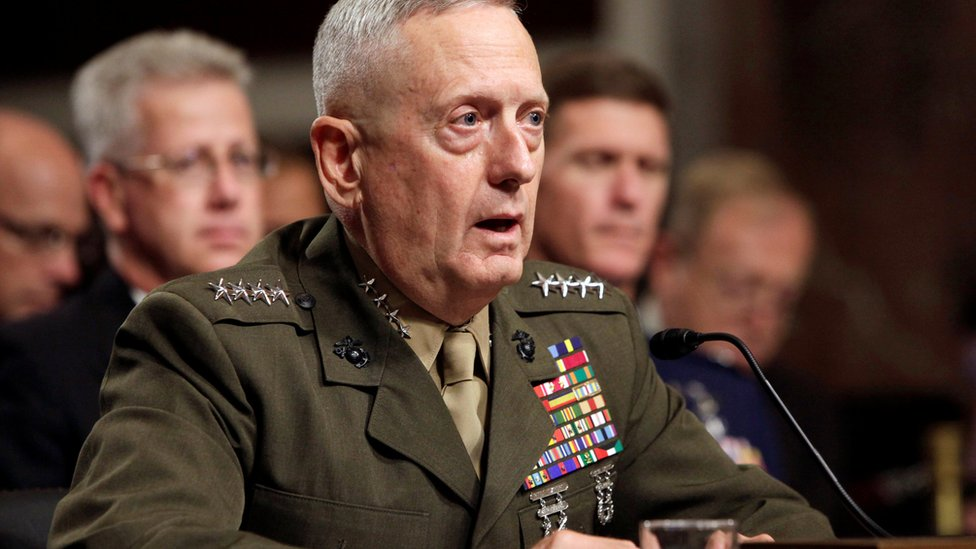 General James Mattis testifies before the Senate Armed Services Committee hearing on Capitol Hill in Washington, US, on 27 July 2010