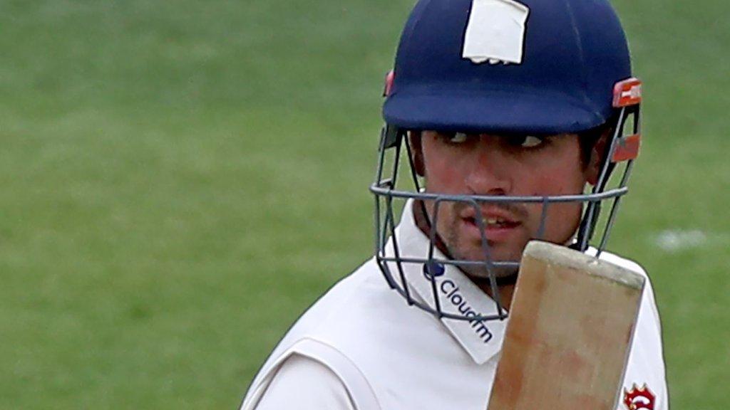 Ex-England captain Cook scores century for Essex on return