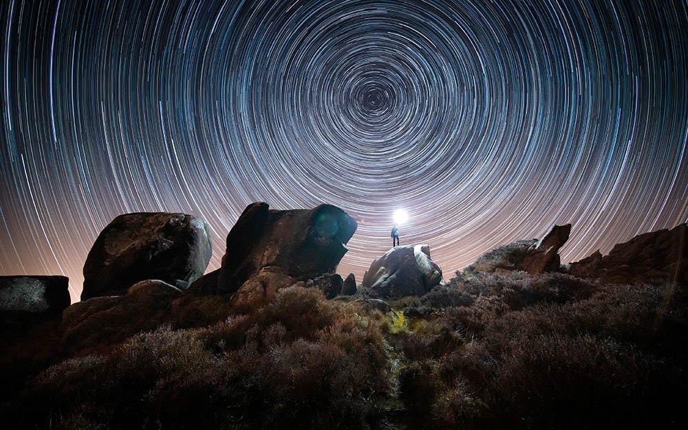 Zvezdina staza preko stene u Stafordširu