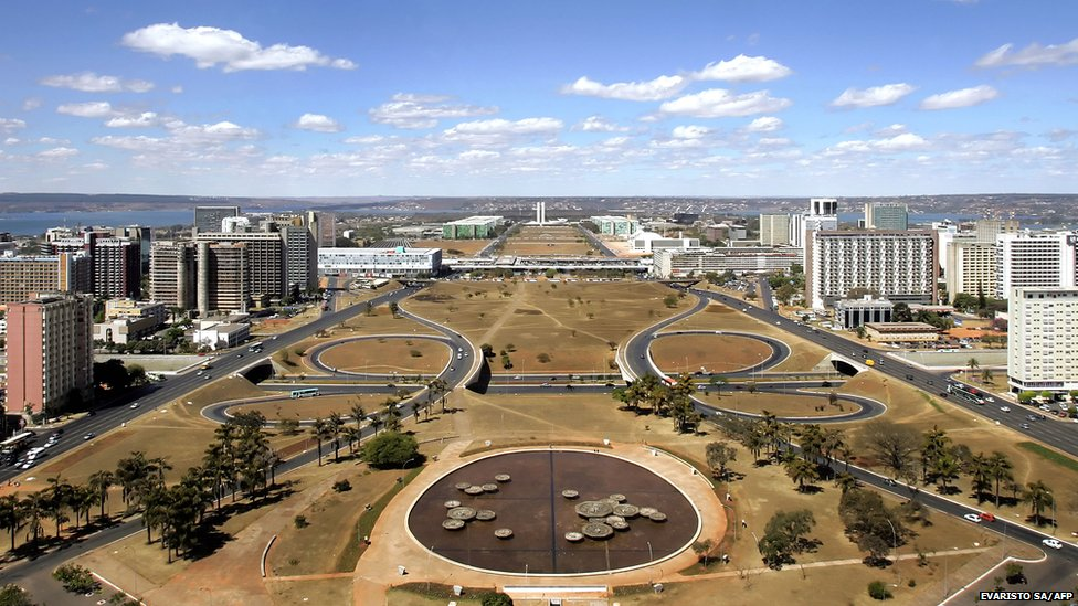 General view of Brasilia, designed by Brazilian architect Oscar Niemeyer and inaugurated in 1960