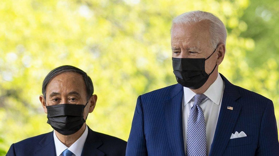 日本首相菅義偉周五與美國總統拜登舉行會談。