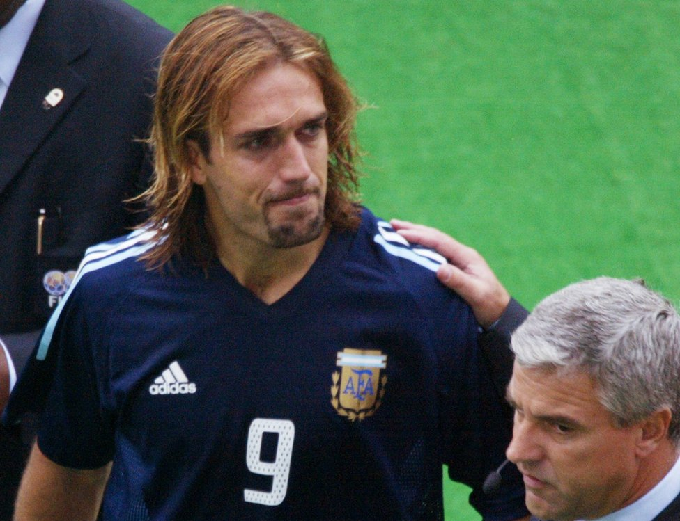 El llanto de Batistuta tras el decepcionante paso de Argentina en el Mundial 2002.