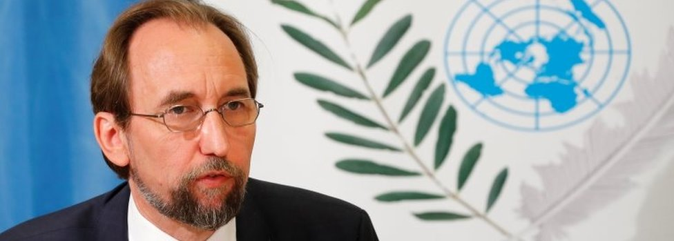 Zeid Ra'ad al-Hussein, outgoing United Nations High Commissioner for Human Rights attends a news conference in Geneva, Switzerland 29 August 2018.