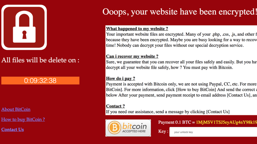 Ransomware infects Ukraine energy ministry website - BBC News