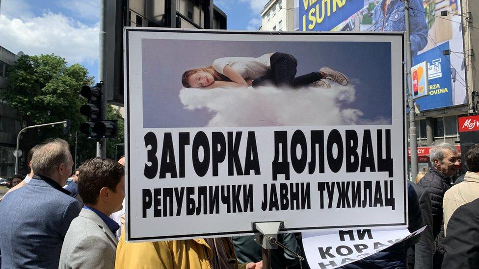 Kritika tužiteljke Zagorke Dolovac bila je i jedna od parola na protestu advokata u junu ove godine
