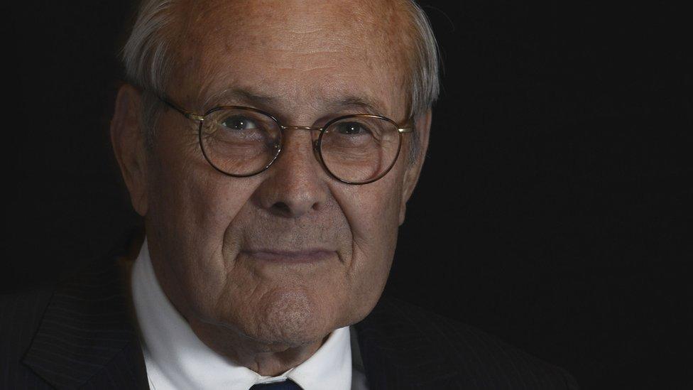 Donald Rumsfeld in September 2016
