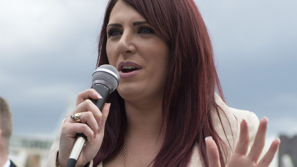 Deputy leader of Britain First Jayda Fransen