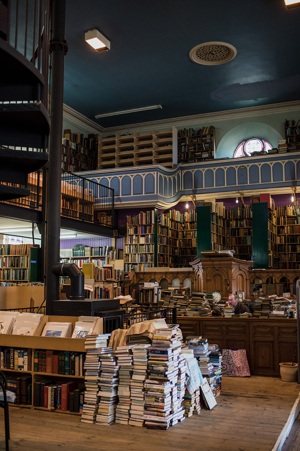 Leakey's Bookshop in Inverness is based in a former cathedral.