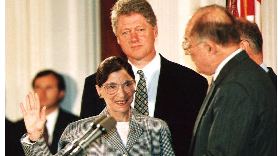 Clinton ve Ginsburg