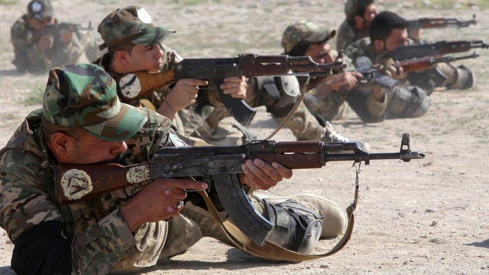 أدى مقاتلو الحشد الشعبي دورا محوريا في الحرب ضد تنظيم الدولة الإسلامية