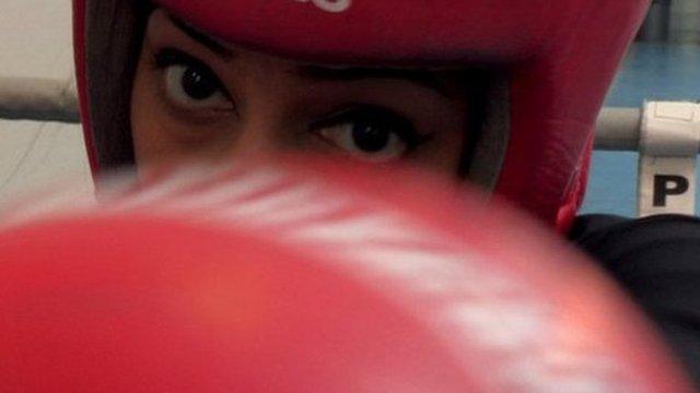 Amateur boxer Farah Jamil