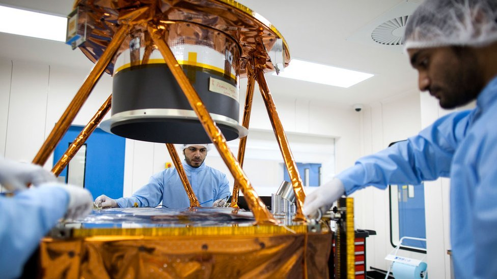 Engineers work on the UAE Mars probe