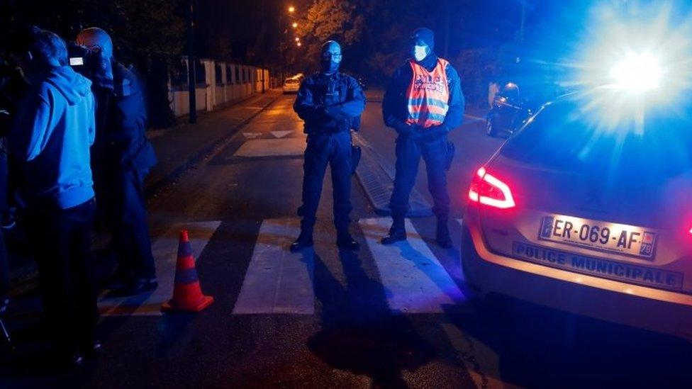 Terror Inquiry After Teacher Beheaded Near Paris Bbc News