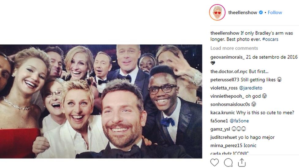 Oskarovcu na selfiju