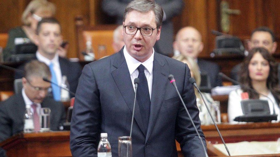 Aleksandar Vučić u skupštini
