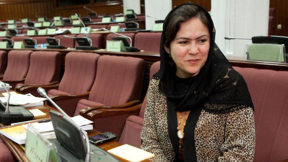 Koofi sitting in parliament