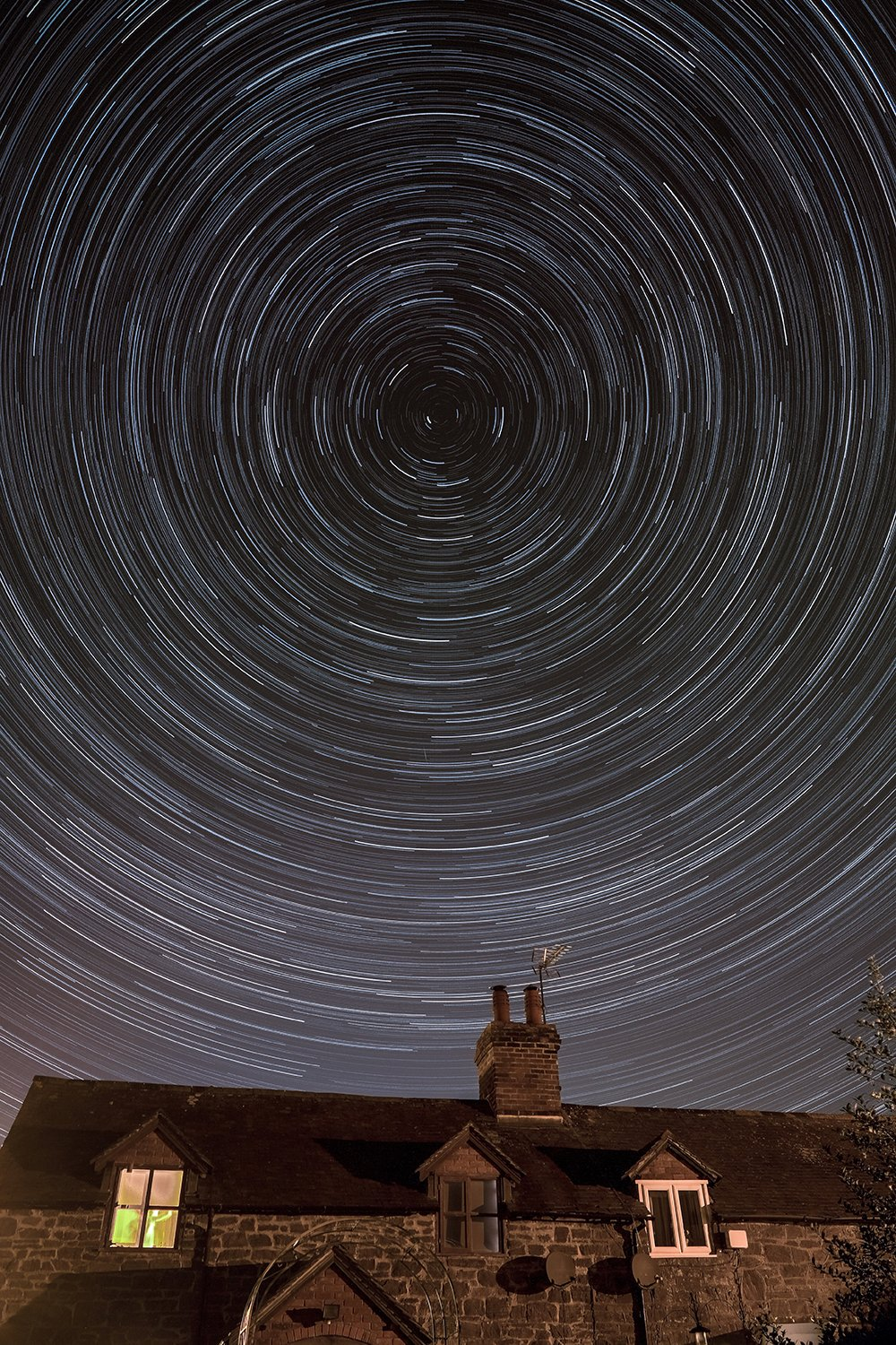 Star trail over Shropshire