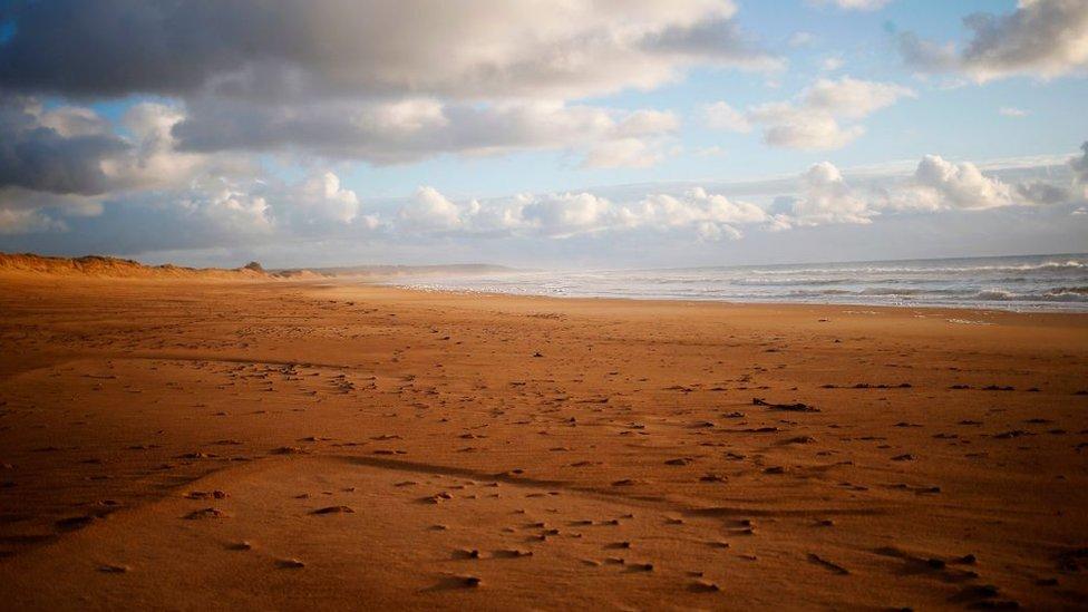 Playa cerca de Surtainville, Francia.