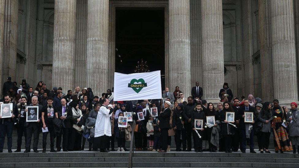 Grenfell memorial service at St Paul's Cathedral