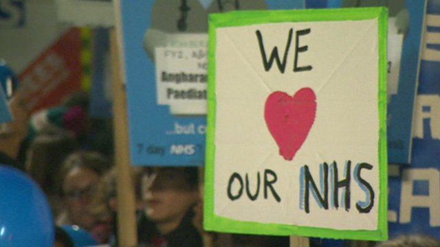 Sign reading 'We love our NHS'