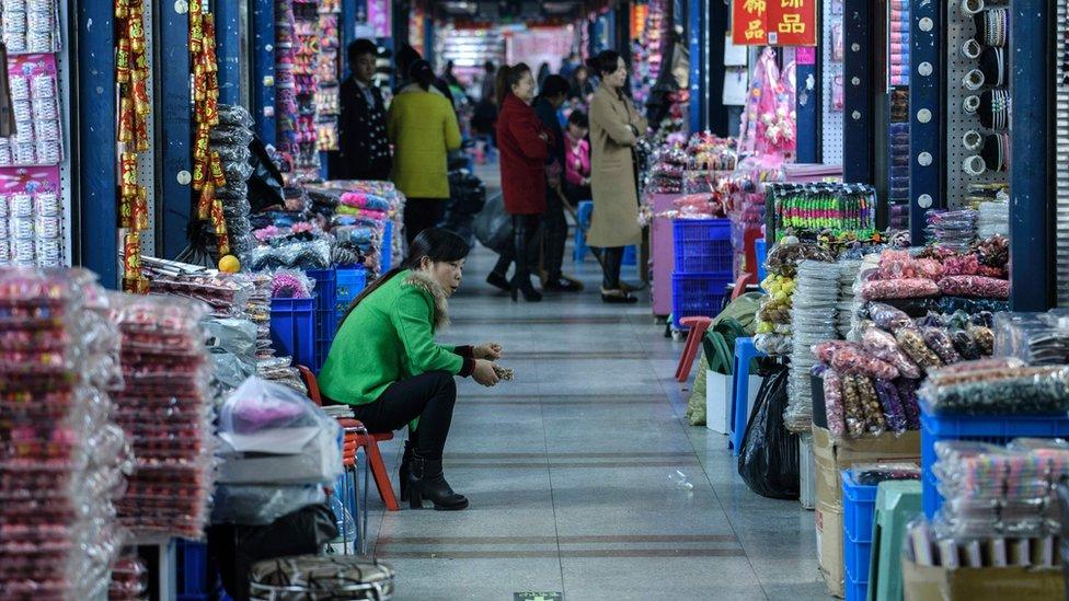 Pasar grosir di Yiwu