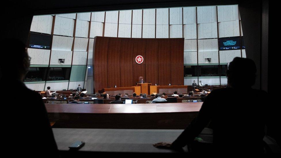 香港立法會會議廳在舉行會議(12/11/2020)