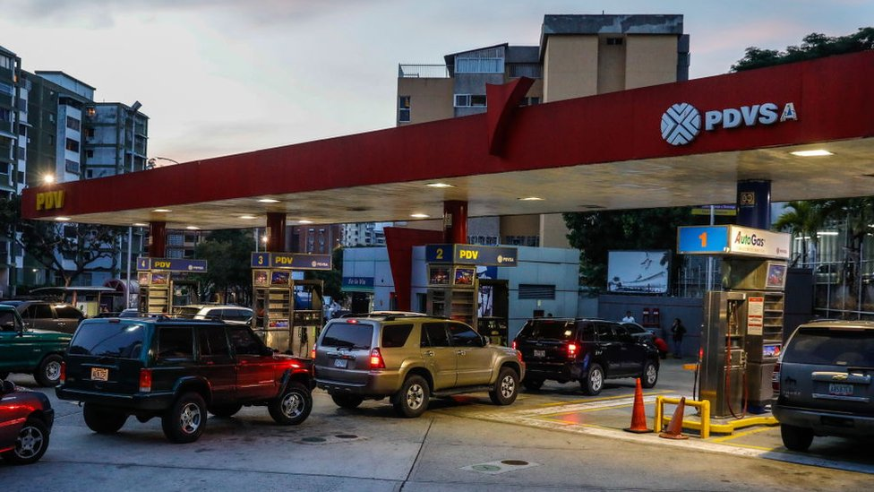 PDVSA filling station in Venezuela