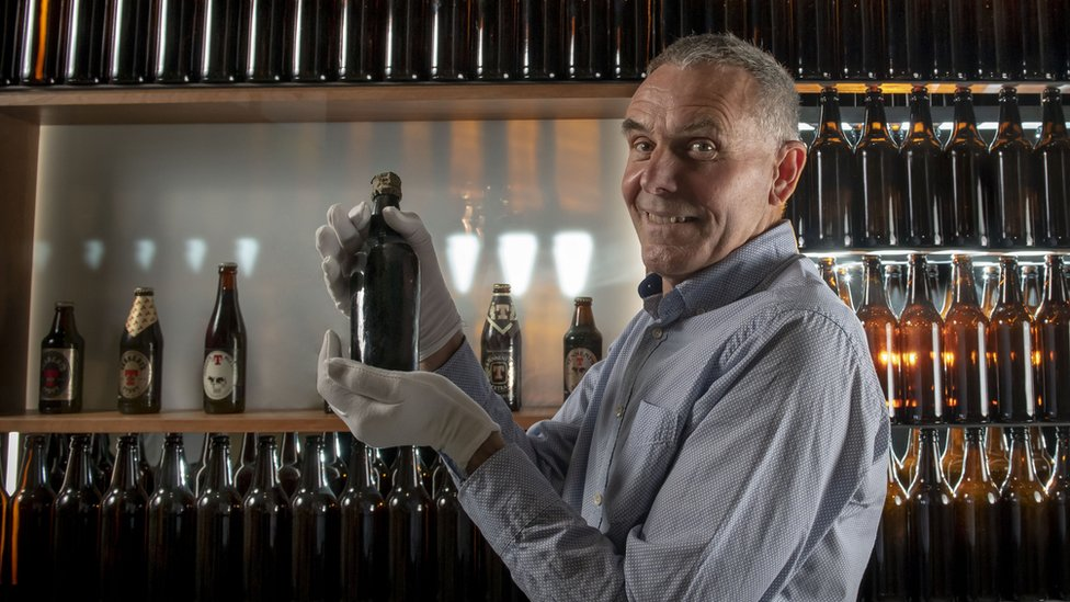 Diver Jim Anderson and 150-year-old stout