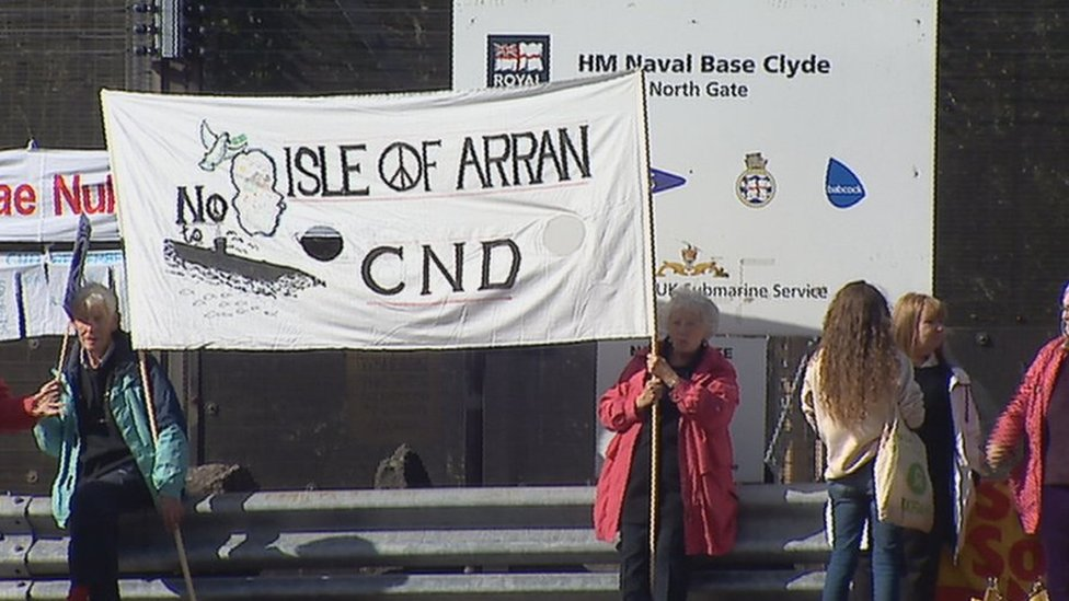 Anti-nuclear campaigners stage peace walk at Faslane