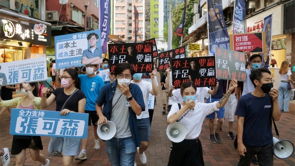 National security law: Mass arrests in Hong Kong 'over primary vote' thumbnail