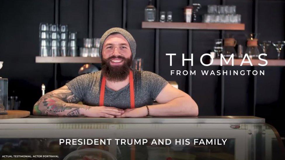 """Captura del video """"Thomas from Washington"""""""
