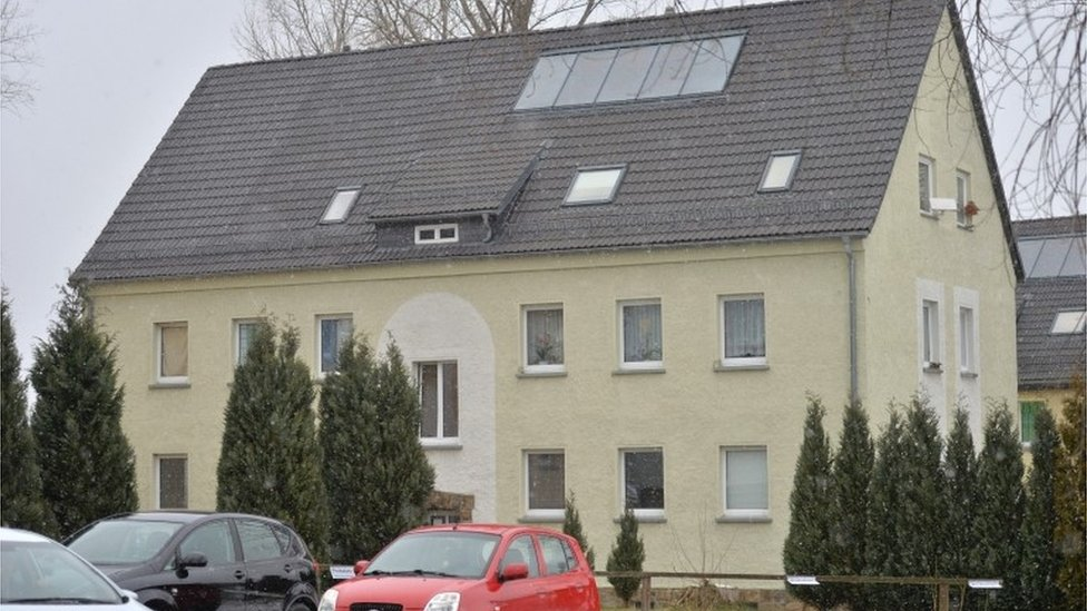 Refugee accommodation in Clausnitz, Germany, 20 February 2016