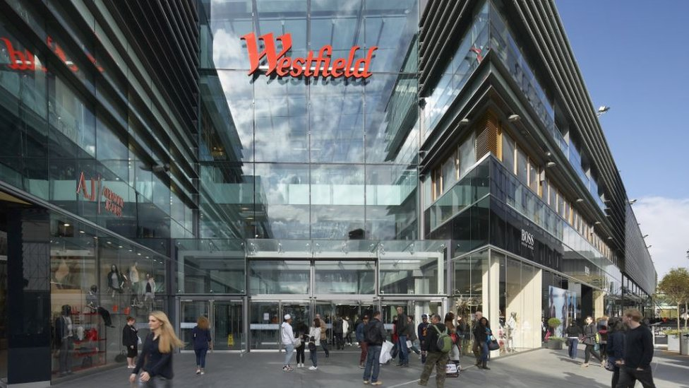 Westfield Shopping Centre: Two hurt as man 'falls from height'