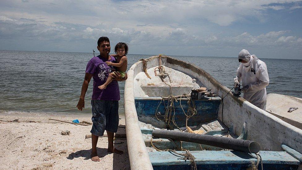 Pescadores en Ciudad del Carmen