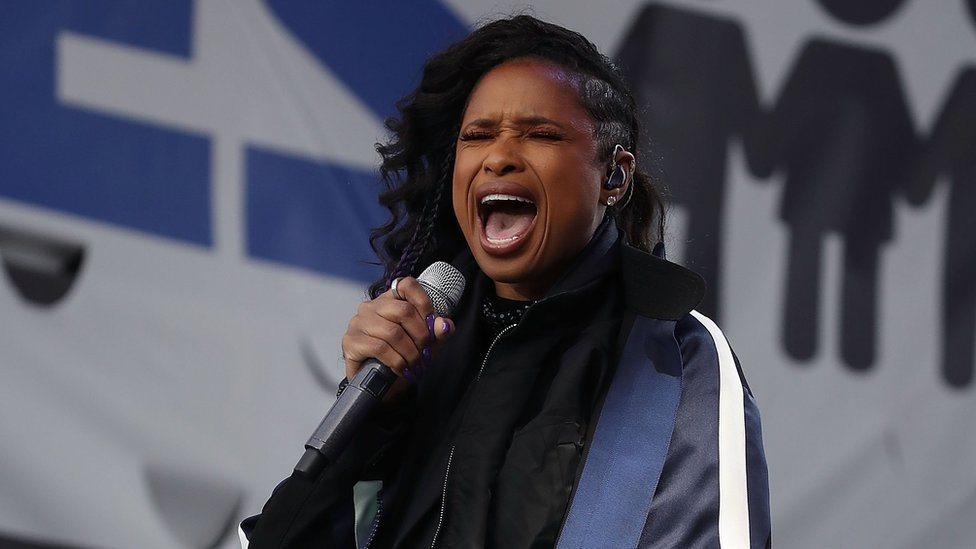 Jennifer Hudson performs during the March for Our Lives rally in Washington DC on 24 March 2018