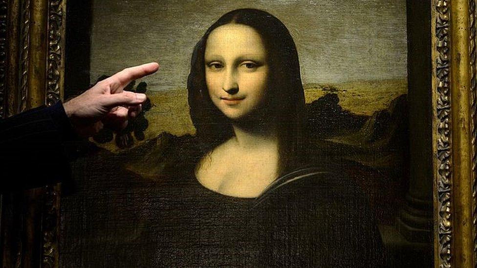 """La pintura de """"La Mona Lisa temprana"""" presentada por la Fundación Mona Lisa en Ginebra, Suiza."""