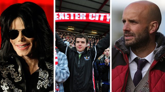 Michael Jackson, Exeter City fan and manager Paul Tisdale