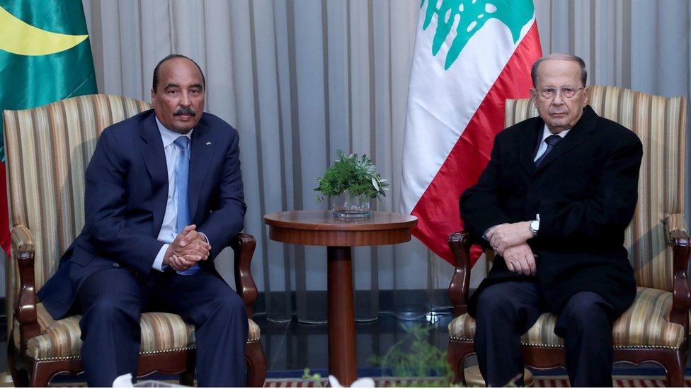 كان الرئيس الموريتاني الرئيس الوحيد الذي حضر القمة إلى جانب رئيس الدولة المضيفة